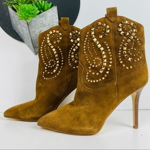 Michael Kors Suede Western Style Dress Boot 7